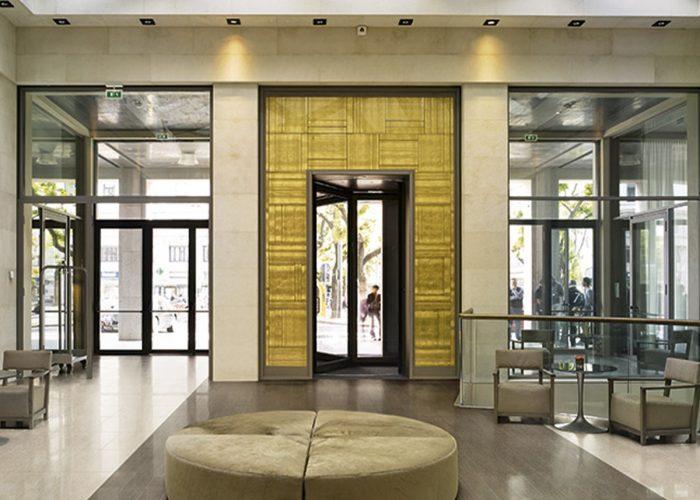 High Traffic Unglazed Tiles Shown in Lobby