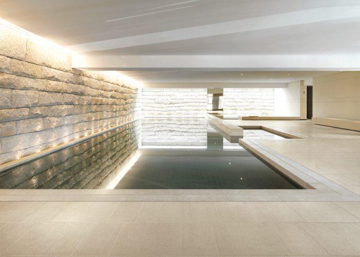 Indoor pool in upscale hotel
